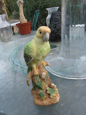 Vintage Numbered London ED. /D.Day Bird  Hand Painted Porcelain Parakeet Figurin
