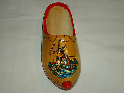 Hand Carved Holland Wooden Shoe/Collectible/Home Decor/Ready to Hang/Nice!