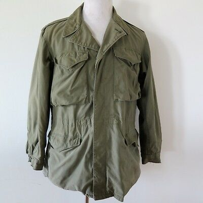 VINTAGE ORIGINAL WW2 US ARMY M43 M-1943 JACKET FIELD COAT SIZE 38 L
