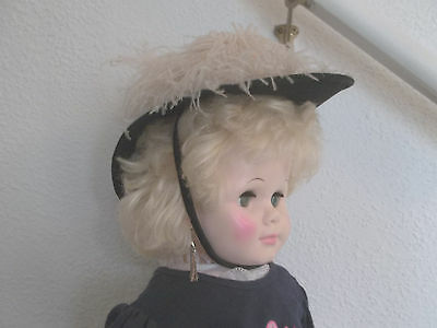 """Eegee walker doll play pal type 30"""" vintage Chapeaux Louise hat nice outfit"""