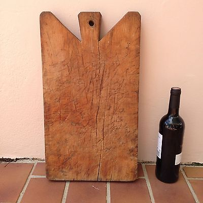 ANTIQUE VINTAGE FRENCH BREAD OR CHOPPING BOARD 2 WOOD nice
