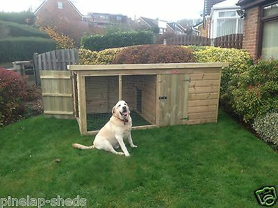Dog Kennel and Run cat kennel Tanalised Timber Strong wooden Pet House value