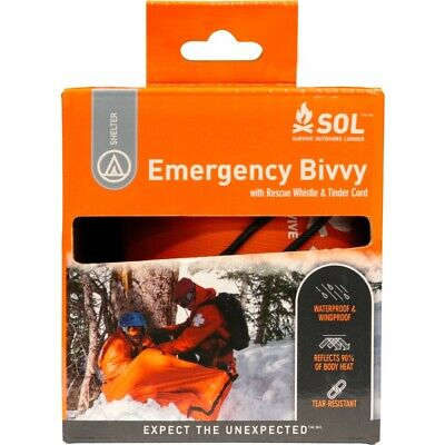 SURVIVE OUTDOORS LONGER® (SOL) Emergency Bivvy (Heatsheet / Abri / Shelter)