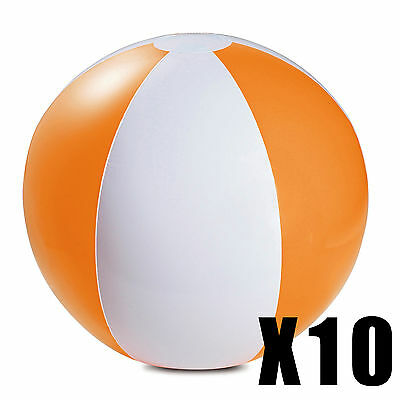 10 X INFLATABLE PANEL BEACH BALLS SWIMMING POOL OUTDOOR PARTY BEACH HOLIDAY TOY