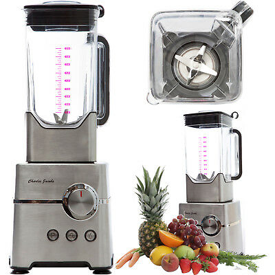 Charles Jacobs Ultra Powerful 2000W Food Blender Fruit Smoothie Maker Big 2L Jug