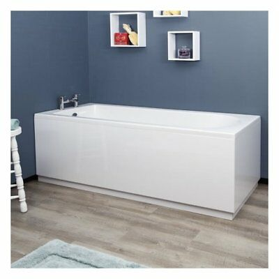 Bathroom 1700mm MDF Gloss White Front Side Bath Panel