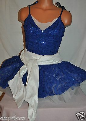 New Adult Small  royal Blue  TuTu Performance Pageant Stage Prom Dance Dress