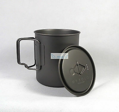 MY Titanium portable cup pot mug 750ml camping fishing outdoor UL backpacking