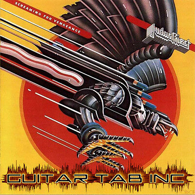 Judas Priest Guitar & Bass Tab SCREAMING FOR VENGEANCE Lessons on Disc