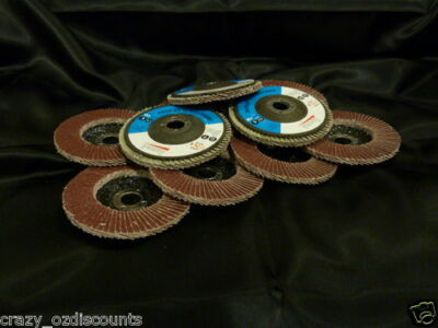 50 X 100Mm 4 Inch 80 Grit Flap Discs Wheels Angle Grinder Grinding Metal Sanding