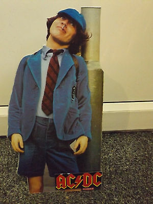 AC/DC Angus Young 1980's Polydor record shop cardboard promo standee Bon Scott