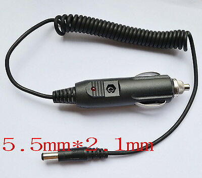 12V / 24V car charger Power adapter Cigarette Lighter 1.5M Cable 5.5mm × 2.1mm