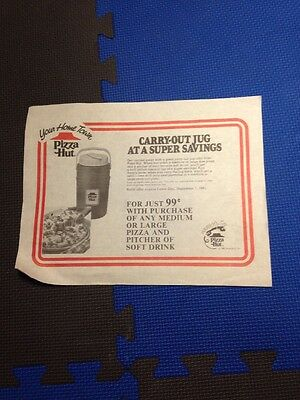 [ 1970s 80s PIZZA HUT Paper Placemat Vintage!