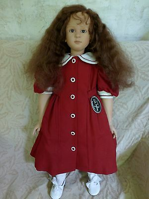 Viviane - vinyl doll by German Artist Ruth Treffeisen