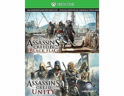 Assassins Creed Black Flag and Assassins Creed Unity, for download XBOX ONE