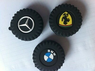3D 4GB 4G Silicone benz bmw Car tires USB 2.0 Flash Memory  Pen Drive