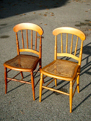 2-VINTAGE-1950-WICKER CHAIRS/33 x16 x15/STURDY FRAME/SEATS ARE FRAYED BUT USABLE • £25.61