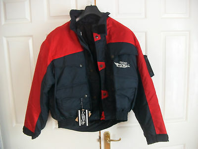 Motorbike Motorcycle Jacket waterproof  protect pads red black  new size large