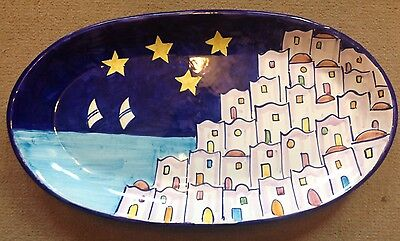 Vietri Pottery-20,1/2x11,1/2in. Oval Positano Patt.Made/Painted by hand in Italy