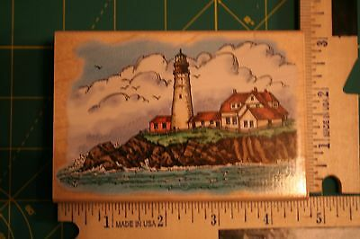 1997 Stampendous Portland Head Lighthouse Wooden Rubber Stamp - Lightly Used