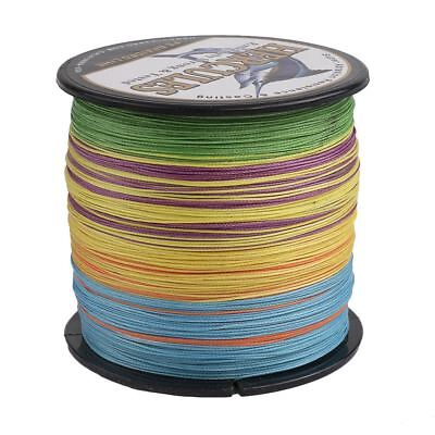500M 8 Strands Multicolor 10LB-300LB PE Spectra Braid Dyneema Super Fishing Line