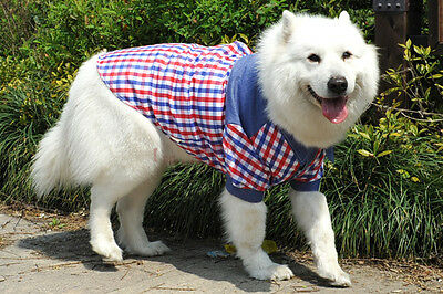 Husky Golden Retriever Labradors Big large dog clothes pet plaid coat costumes