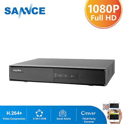 SANNCE 8CH 5in1 1080N DVR HD Video Record CCTV HDMI Surveillance Security H81NK