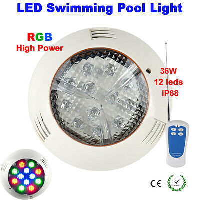 IP68 36W 12*3W RGB Wall Mounted LED Underwater Light for Inground Pool AC12V