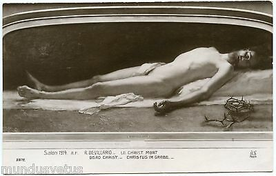 Salon 1914. R. Devillario. Le Christ Mort. Dead Christ. Religion. Faith