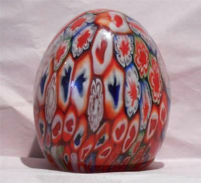 Clearance -Poker Players Lovely Murano Millefiori Glass Egg Paperweight (MUR-43)