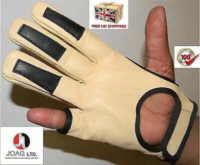 Full Shoot Archers  Glove- Archery, Bow Hunting, Shooting Real Leather Gloves
