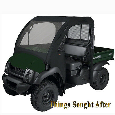 BLACK SOFT CAB ENCLOSURE for 2017 2018 2019 KAWASAKI MULE 4000 /& 4010 4x4 Cabin
