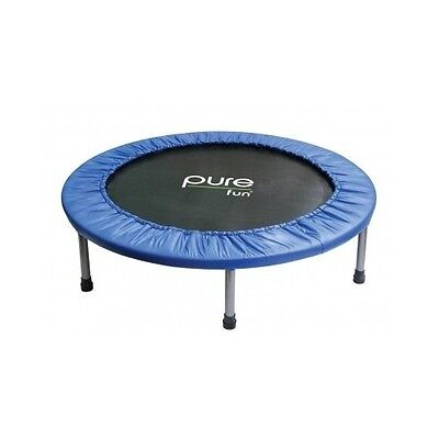 Pure Fun Mini Trampoline, Exercise, Workout, Fitness, Gym, Indoor, Outdoor, 40in