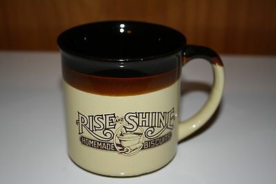 6 Vtg 1984 Diner Coffee Cups Mugs  Rise and Shine Homemade Biscuits Hardee's