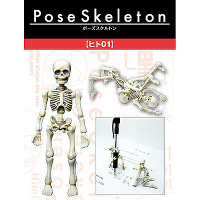 Re-ment Pose Skeleton Human 01 Aciton Figure Miniatures 1/18 Scale