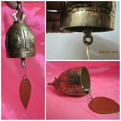 Brass Bell Thai Buddha Temple Decorative 2 in Diameter & 3.5 of Tall Inch B1-8