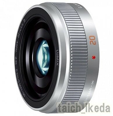 Panasonic LUMIX G 20mm/F1.7 II ASPH. H-H020A-S Silver Lens from Japan New