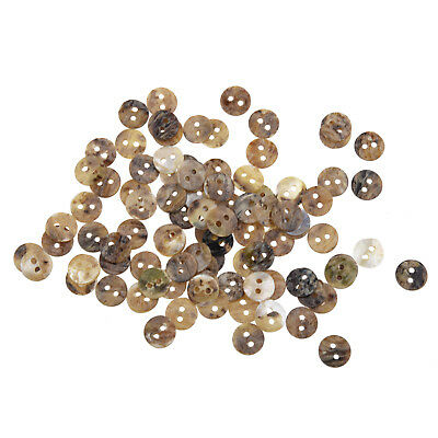 100 Mother of Pearl MOP Round Shell Sewing Buttons 8mm HOT WS