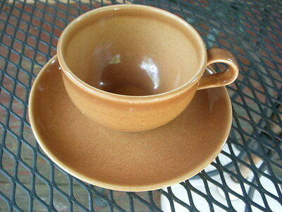"""IROQUOIS RUSSEL WRGHT  """"CASUAL"""" CUP & SAUCER  APRICOT"""