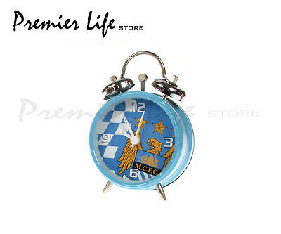 Manchester City F.C Bell Alarm Clock Checked Football Fan Gift Official licensed
