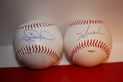 Signed/Autographed Baseballs (2) Unidentified Signatures Player/Team Unknown