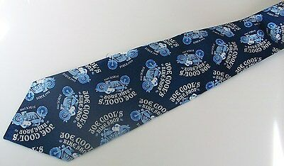 "Peanuts Snoopy Necktie Joe Cool's Bike Shop 58"" Tie  100% Silk"