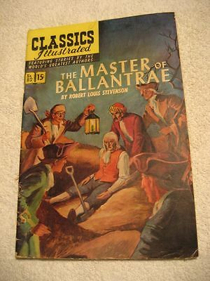 "CLASSICS ILLUSTRATED THE MASTER OF BALLANTRAE NO. 82 HRN 82 GOOD ""LOOK"""