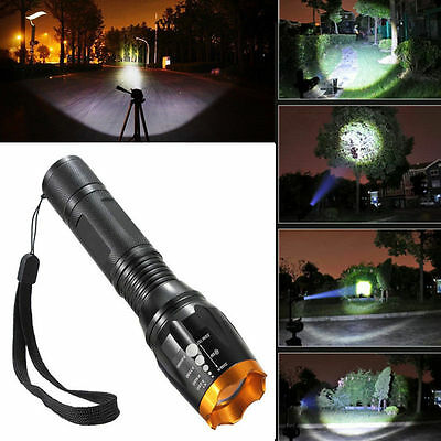 Zoomable 2500lm CREE XM-L T6 LED 18650 Flashlight Torch Lamp Light Waterproof