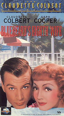 BLUEBEARD'S EIGHTH WIFE  GARY COOPER  CLAUDETTE COLBERT  DAVID NIVEN  VHS  NEW