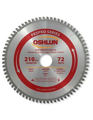 Oshlun SBFT-210072A 210mm 72T Non-Ferrous TCG Saw Blade for Festool TS 75 EQ