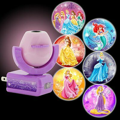 Disney Princesses Projecting LED Plug in Night Light Wall Ceiling Girl Kids Room