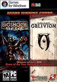 NEW BioShock and Oblivion The Elder Scrolls IV Combo, u get 2 games in 1, for PC