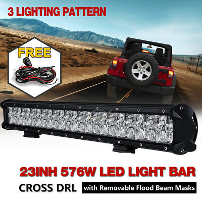 20inch 294W OSRAM LED Light Bar Flood Spot Combo Offroad Pickup ATV 4x4 SUV 22""
