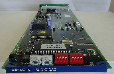 SNELL & WILCOX IQBDAC-N DIGITAL TO ANALOG AUDIO CONVERTER CARD WITH REAR MODULE